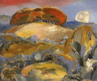 Paul Nash - one of the Wittenham Clumps paintings