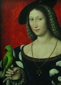 Marguerite of Navarre - attrib Clouet, detail