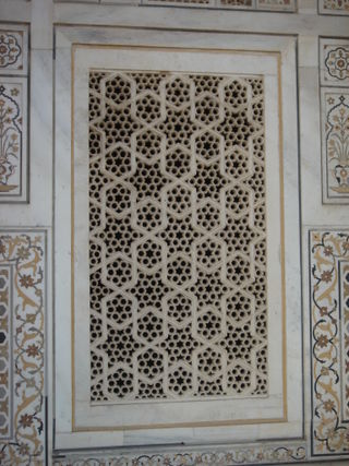 Marble screen at the Itmud ud Daulah