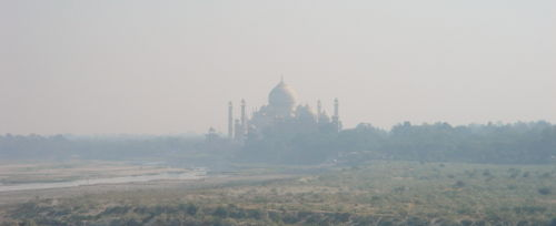 Taj mahal across the Yamuna - dawn