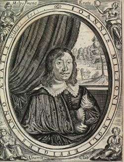 Milton poems 1645 frontispiece