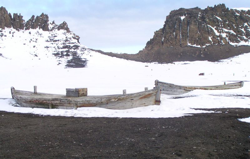 Abandoned boats, Deception Island