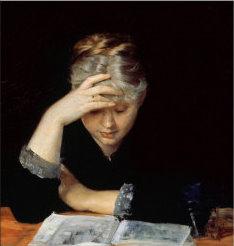 Maria Konstantnova Bashkirtseva ~ At A Book