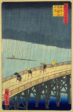 Hiroshige - a sudden shower