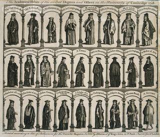 Cambridge academical dress 1748
