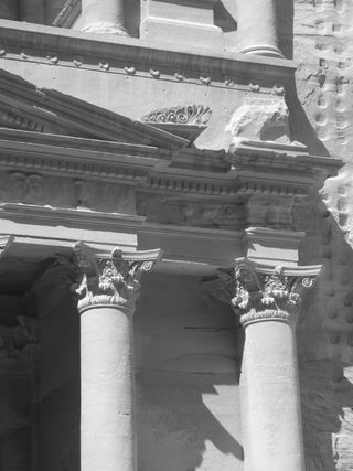 Petra - detail from the Treasury