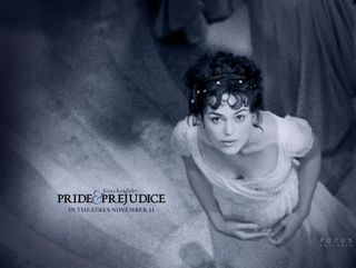 Keira Knightly as Elizabeth Bennet in pride-and-prejudice