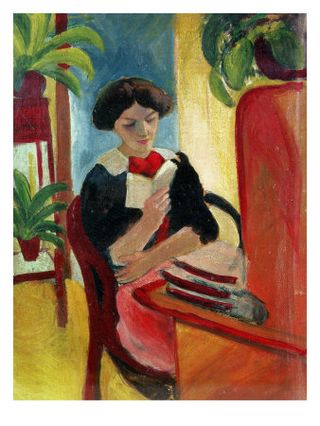 August Macke ~ Elisabeth reading 1911