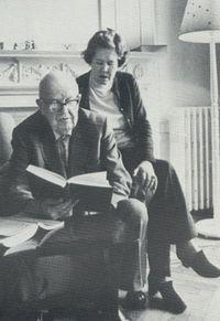C P Snow and his wife Pamela