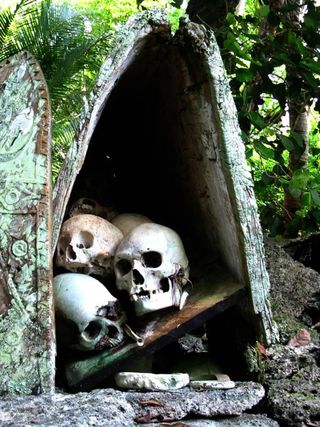 Solomon Islands - a skull house