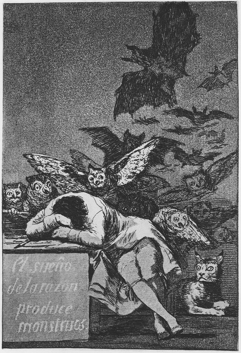 Goya_Caprichos (43) The Sleep of Reason produces Monsters