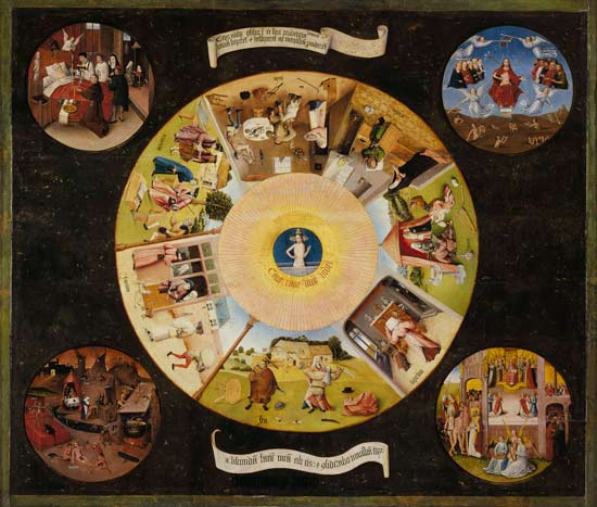Hieronymus Bosch ~ The Seven Deadly Sins and the Four Last Things