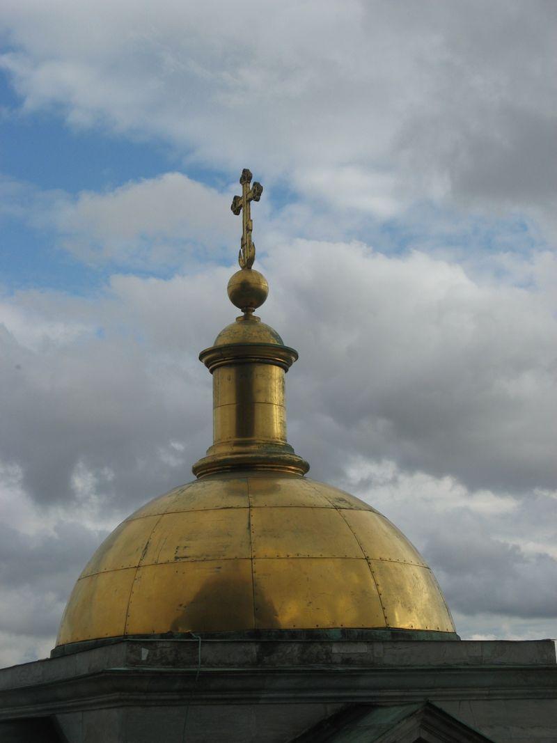 Cross on St Isaac's, St Petersburg