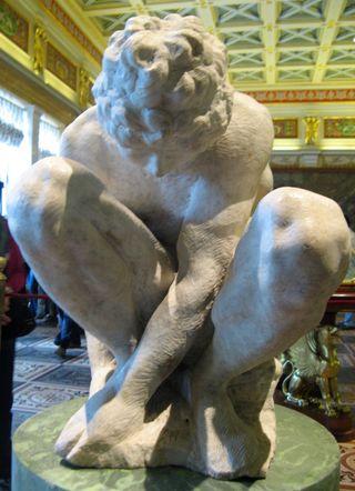 Crouching Boy, Michelangelo, Hermitage