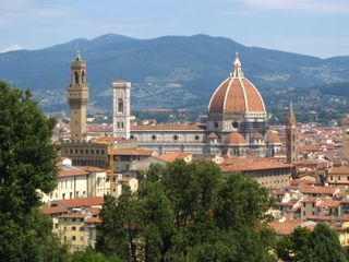 Florence, view of Duomo from Bardini Gardens