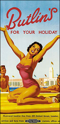 Butlin's poster from 1930s