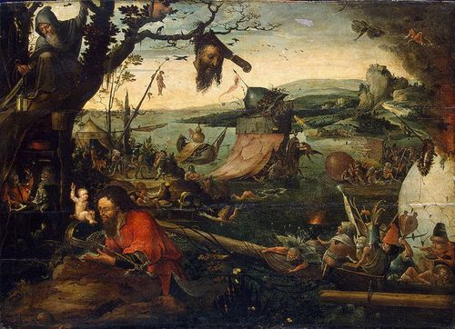 Jan Mandyn, Landscape with the story of St Christopher, Hermitage