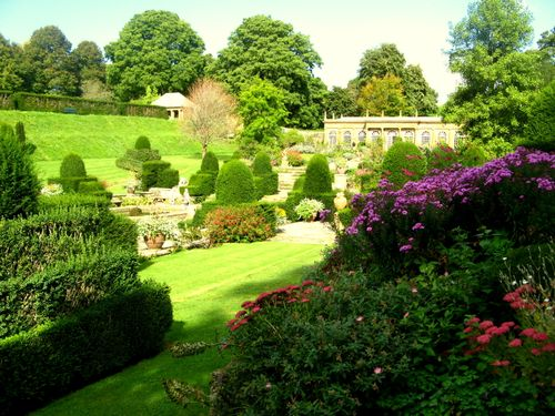 Mapperton - herbaceous planting softens the whole
