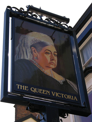 Queen Victoria pub sign