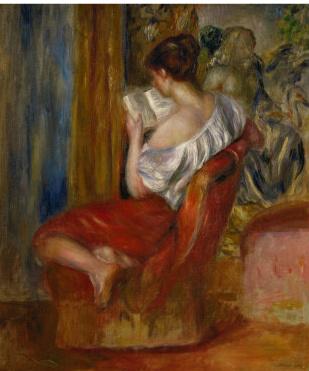 Renoir-reading-woman c 1900