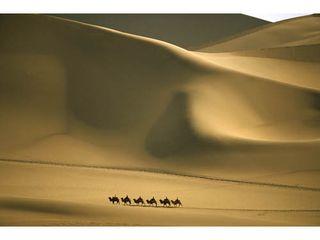 Singing sands, China