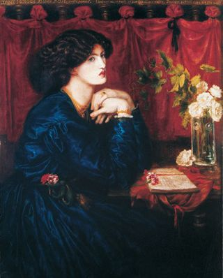 D G Rossetti, Jane Morris The Blue Silk Dress 1868