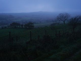 Misty dusk, Eggardon