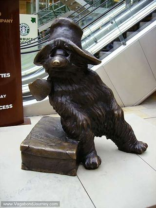 Paddington Bear arrives at Paddington from Peru