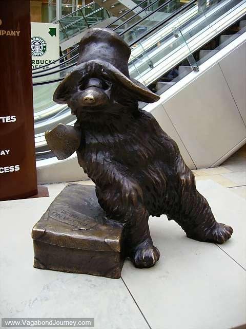 Paddington Bear arrives at Paddington from Peru