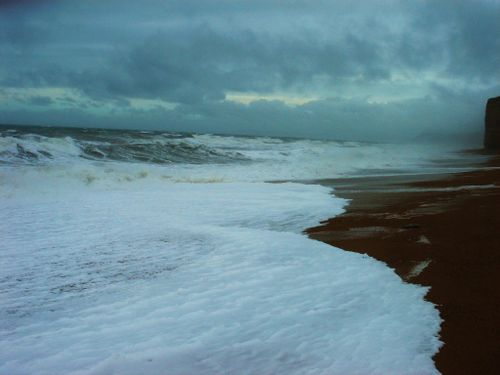 Rough seas after the storm, Burton Bradstock (2)