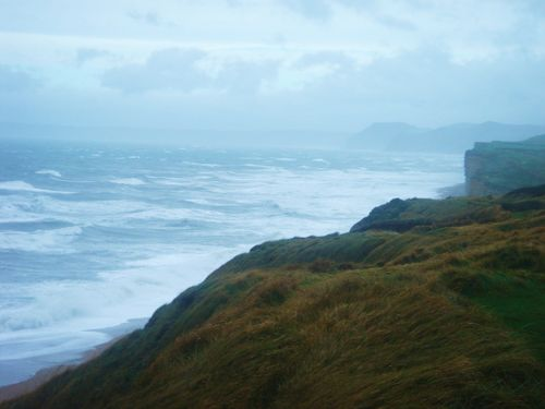Rough seas after the storm, Burton Bradstock