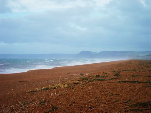 Chesil beach after the storm