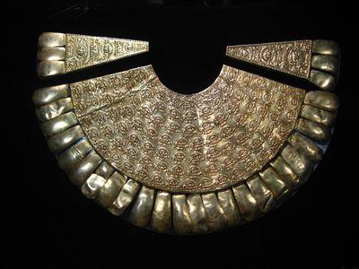 Silver Inca necklace, Rafael Larco Herrera museum, Lima
