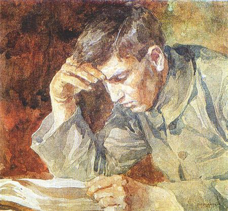 Reading_young_man_by_ignat_bednarik